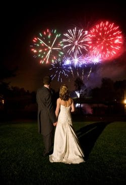 bride-&-groom-fireworks-on-wedding-night