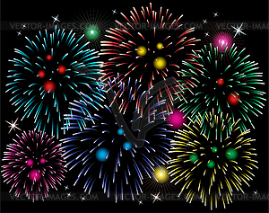Colourful Fireworks