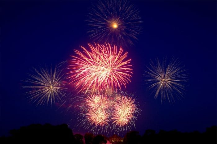 One of our very own sky filling fireworks display at Blenheim Palace.