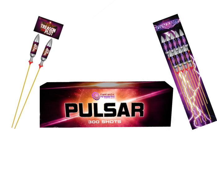 Pulsar Candles and rockets, Treason and Plot and Dynamo.