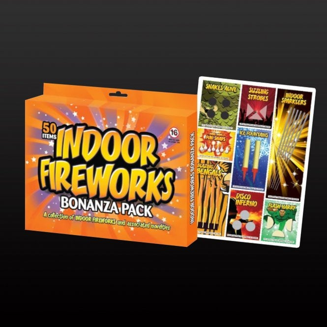 A picture of the Indoor Fireworks 'Bonanza Pack'