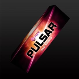 A picture of the quiet firework 'Pulsar Candles'.