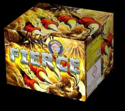 Fierce - firework for sale at Fantastic Fireworks. Recommended for a Halloween display!
