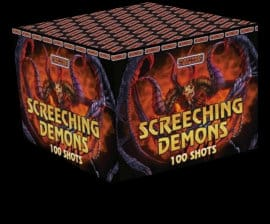 Screeching Demons - loud firework for sale at Fantastic Fireworks. Recommended for a Halloween display!