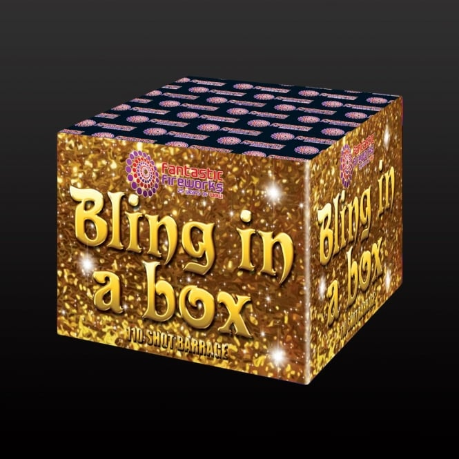 Fantastic Fireworks Bling in a Box - 110 Shot Single Ignition Firework